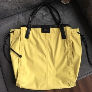 AUTHENTIC Burberry Buckleigh Nylon Tote Lime Green